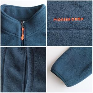 """Image 5 - פיוניר מחנה מותג ארה""""ב גודל חם צמר גברים מעיל בגדי סתיו חורף רוכסן חולצות זכר באיכות גבוהה 520500Y"""