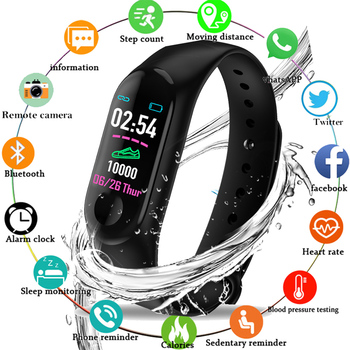 2019 New Sport Smart Wristband Blood Pressure Heart Rate Monitor Smart Watch Fitness Tracker Pedometer Band Men Women Waterproof