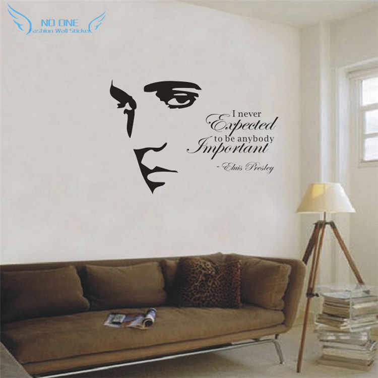 ELVIS PRESLEY Silhouette Vinyl Wall Art Quote Sticker Decal Home Decoration Wall Stickers For Living room