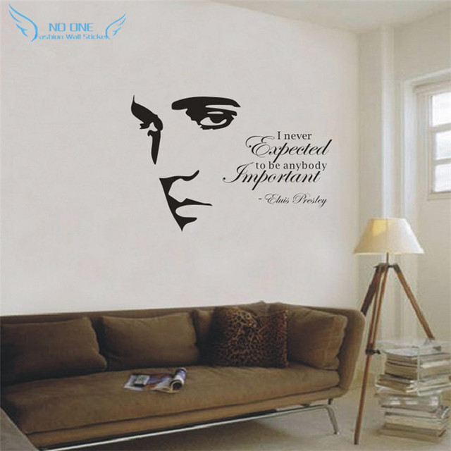 ELVIS PRESLEY Silhouette Vinyl Wall Art Quote Sticker Decal Home Decoration  Wall Stickers For Living Room Part 40