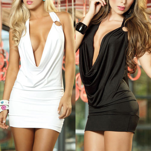 Women Sexy Deep V-Neck Bandage Bodycon Evening