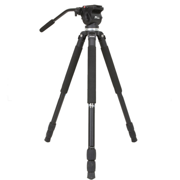 Jieyang trépied JY0509A JY-0509A professionnel appareil photo REFLEX amortissement hydraulique oiseau 65mm bol tête