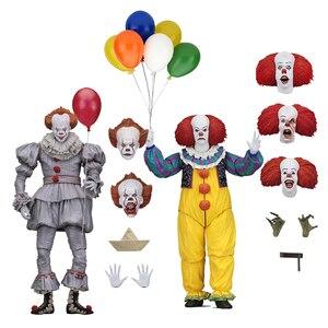 Image 1 - Korku filmi It karakter NECA Joker balonlar Pennywise Action Figure modeli oyuncak noel cadılar bayramı hediyeler