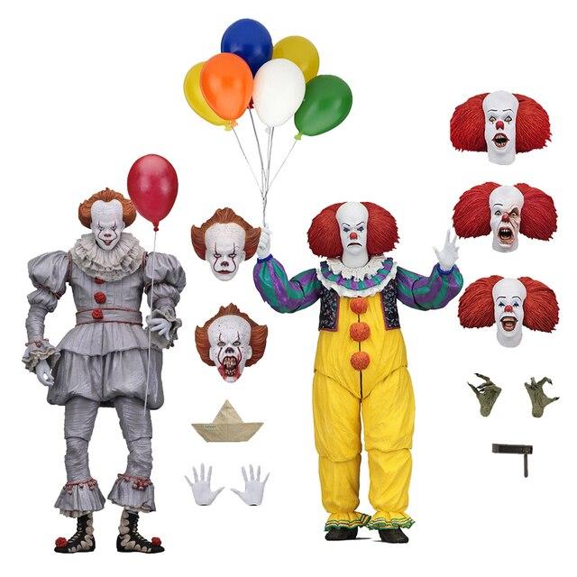 Korku filmi It karakter NECA Joker balonlar Pennywise Action Figure modeli oyuncak noel cadılar bayramı hediyeler