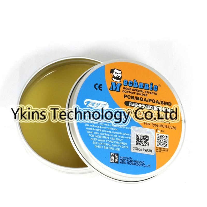 MECHANIC MCN-UV80 No-clean Paste Flux Soldering Tin BGA solder flux  Electric Soldering Iron Welding Fluxes For PCB/BGA/PGA/SMD