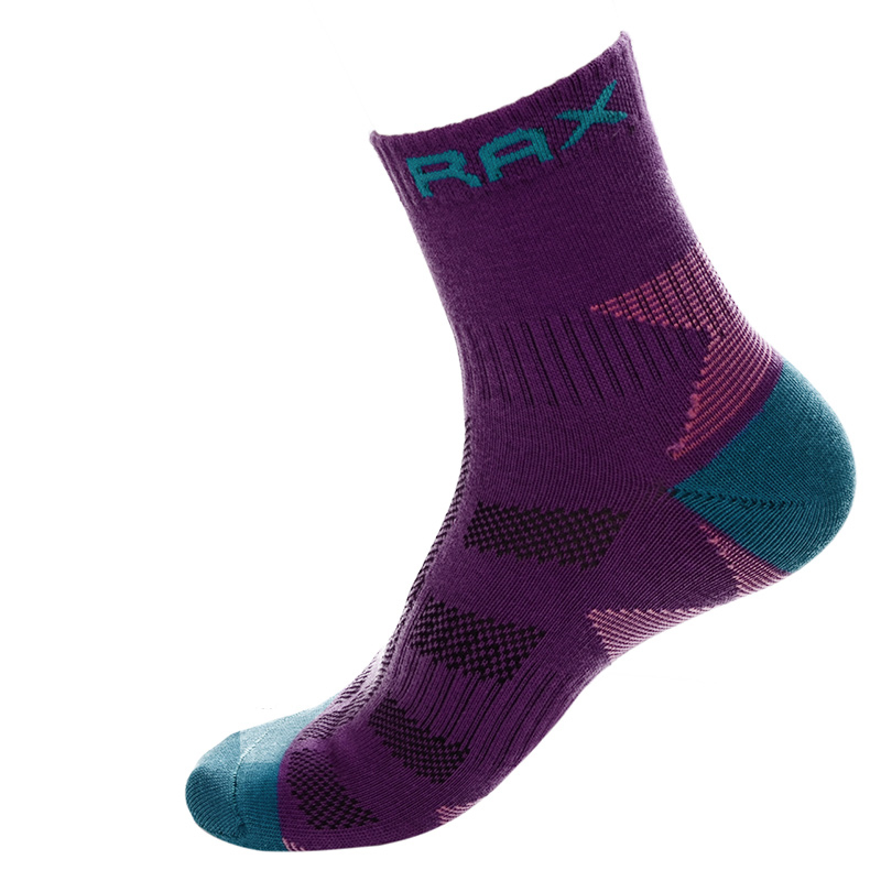 Rax 4 pairs/lot Outdoor Women Breathable Hiking Shoes Cotton Sock Outdoor Sports Climbing Socks Antibacterial Quick Dry Socks