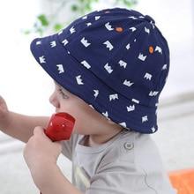 Moda bebé recién nacido Niñas Niños Sombreros infantil sombrero del cubo  exterior Sol sombra tapas corona 5396e2b1204