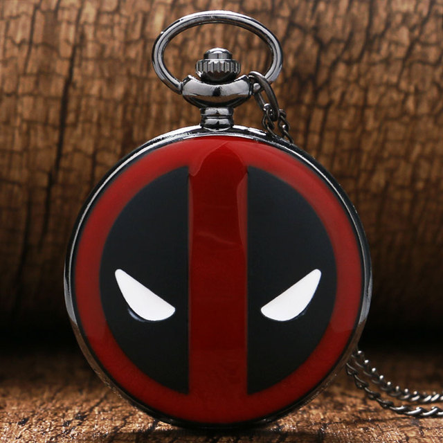 DEADPOOL Marvel Comics Black/Bronze Quartz Pocket Watch Men Women Gift P341