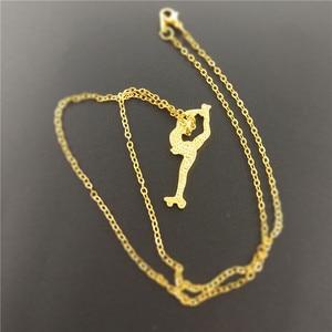 Image 2 - Hot Wholesale Fashion Pendant Women Figure Skating Necklace Women Roller Skates Necklace Choker Jewelry Charm Custom Gift