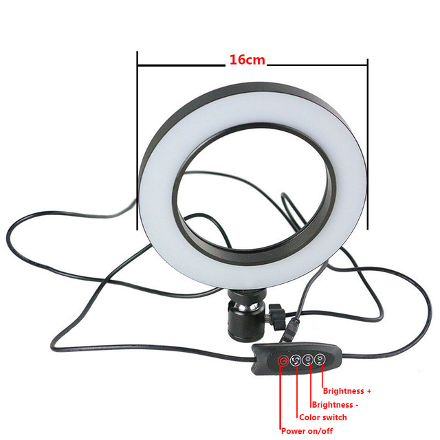 Multi-Position Bracket Base with LED Flash Light Selfie