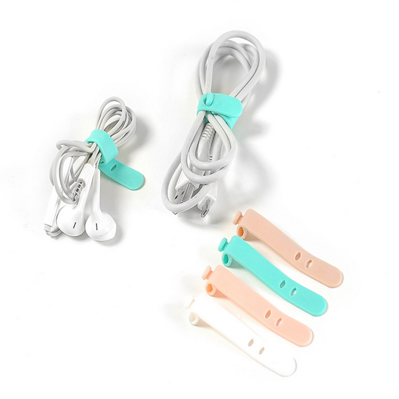 Organizer Cable-Winder Tie-Phones Data-Wire-Cable Silicone Buckle Finishing New-Arrival
