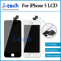 Grade AAA 10PCS LOT For IPhone 5 LCD No Dead Pixel Screen Replacement 100 Brand New