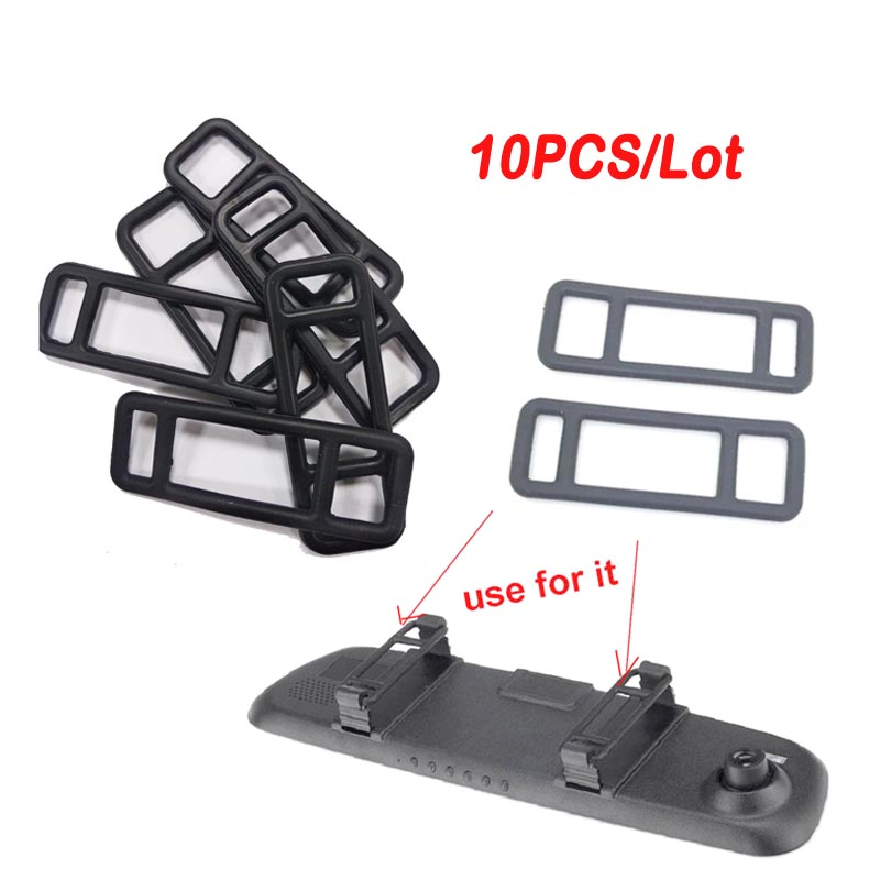 Hotsale 10pcs/lot Car Tachograph Fix Bandage Rearview Mirror Bracket For DVR Support Rubber Tape DV Camera Mount Holder FreeShip