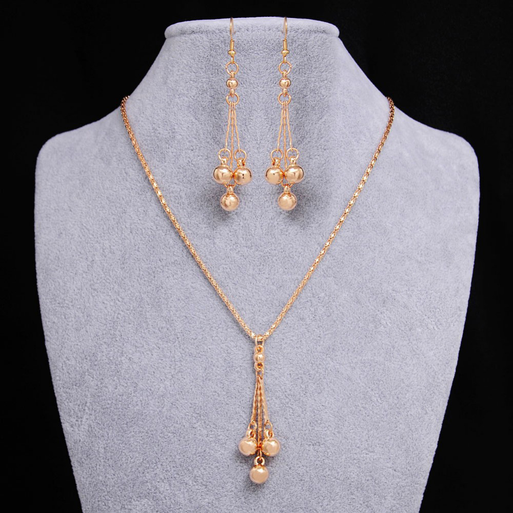 jewelry earrings necklace sets pendant bead african gold accessory wedding tassel necklaces accessories pendants chain