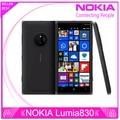 """Оригинал Nokia Lumia 830 сотовый телефон 16 ГБ четырехъядерных процессоров 1.2 ГГц 5.0 """" Corning гориллы стеклянный 3 10MP окна телефон 8 отремонтированы"""