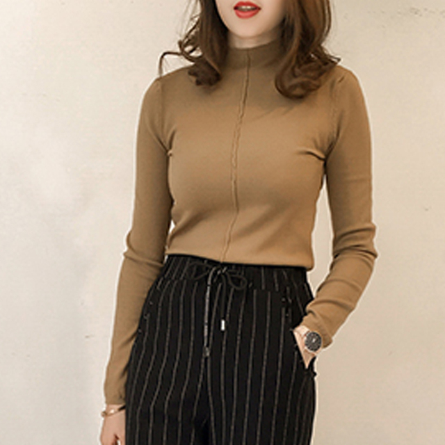 Autumn Winter 2017 Women Sweaters And Pullovers Clothing Casual Knitted Women Tops Long Sleeves Basic Sweaters For Women C7N605A 3