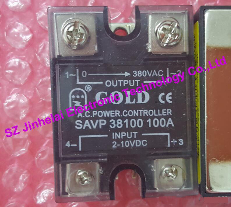 New and original  SAVP38100  GOLD  SOLID STATE RELAY  Solid state voltage regulator module  100A 380VAC  2-10VDC OR 4-20mA 1pcs 5pcs 10pcs 50pcs 100% new original sim6320c communication module 1 xrtt ev do 3g module
