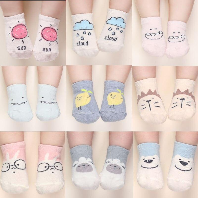 Hot!!! 2019 Super Cute Baby Socks Autumn Winter Cotton Cute Non-slip Boys Girls Newborn Infant Bebe Cartoon Soft Floor Wear
