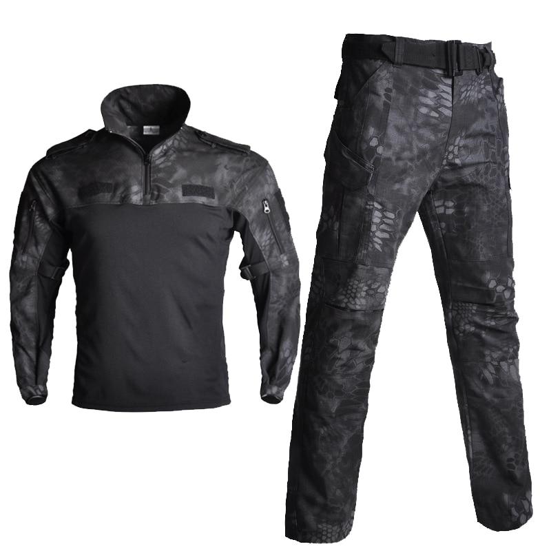 Men's Sets Cotton Military Uniform Shirt Men Army Pants Airsoft Paintball Tactical Shirts Suit Camo Training Clothes Men's Pant - 5