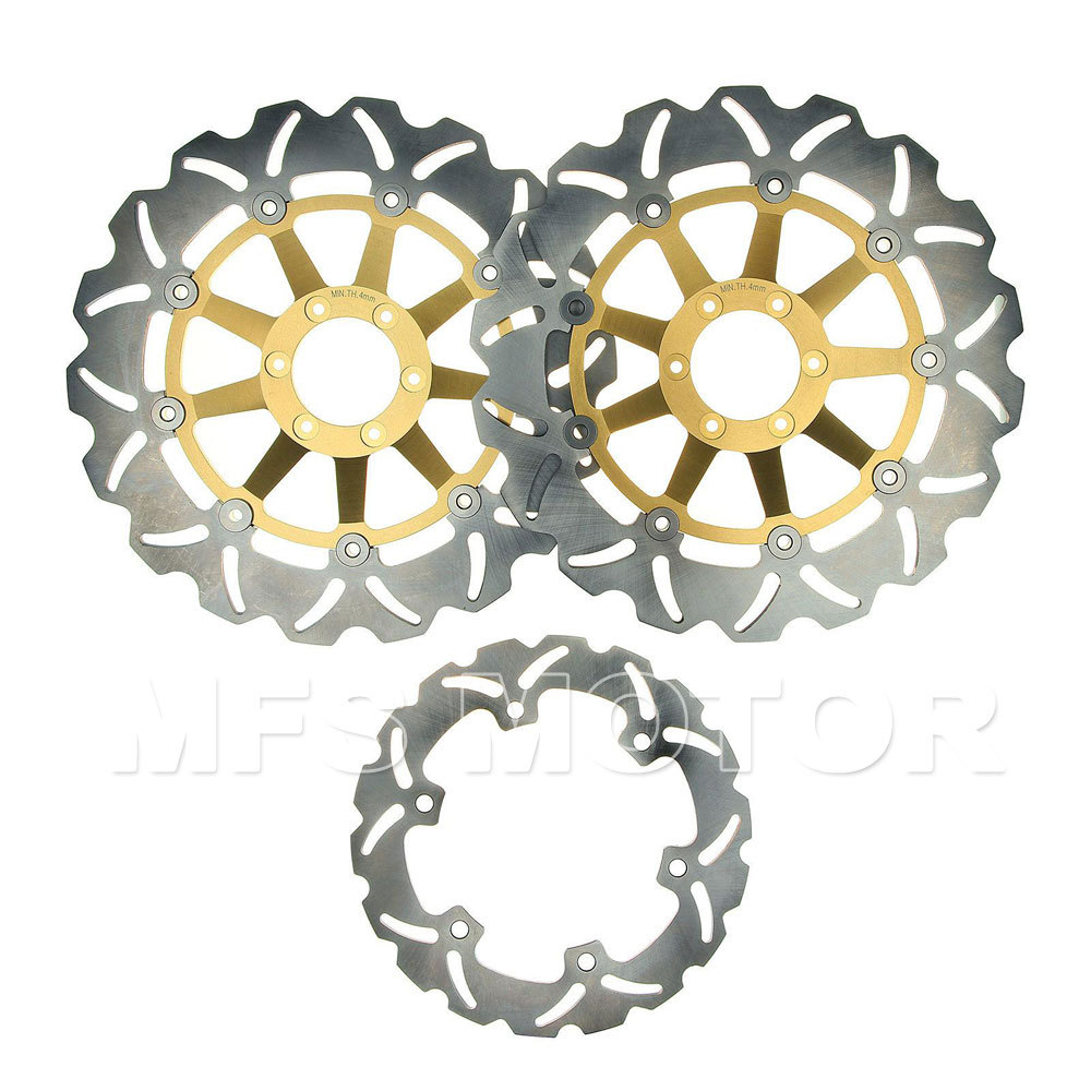 Motorcycle Front Rear Brake Discs Rotor For Honda CBR 1100 XX Blackbird 1999 2000 2001 2002 2003 2004 2005 2006 2007 Golden 2001 2002 2003 2004 2005 2007 full set motorcycle new front rear brake discs rotors for honda cbr600f cbr 600 f supersport f4