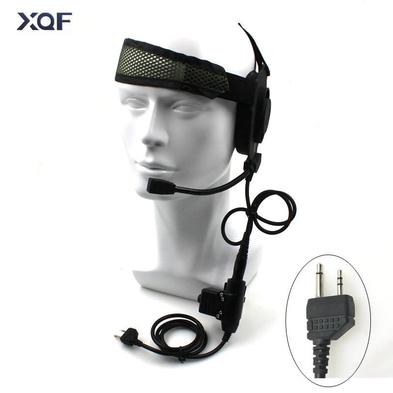 Tactical Bowman Elite II Radio Headset Earpiece With U94 Style PTT For  Midland 2 Pin Walkie Talkie G6 G7 GXT550 GXT650 LXT80 LX