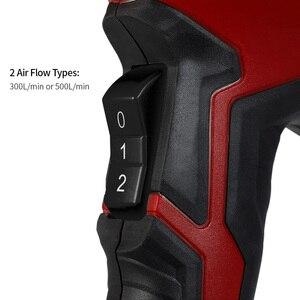 Image 3 - 2000 Вт Воздушный пистолет тепловой пистолет горячий воздух пистолет для пайки фен для волос строительные тепловые Пистолеты для строительства фен промышленный электроинструмент