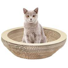 Когтеточка для кошек, доска для отдыха, гофрированный картонный скребок, Когтеточка для кошек, когти, игрушка для домашних животных, большая