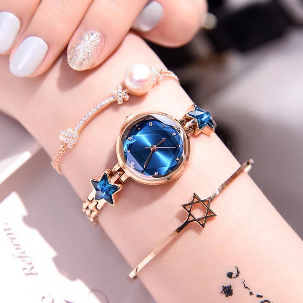 Woman Watch 2019 Luxury Brand JW Rose Gold Stainless Steel Bracelet Watches Women Diamond Crystal Starry Sky Wrist Watch Ladies