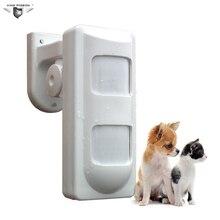 Wired Dual PIR Microwave Outdoor Sensor PIR Motion Detector Waterproof Pet Panel
