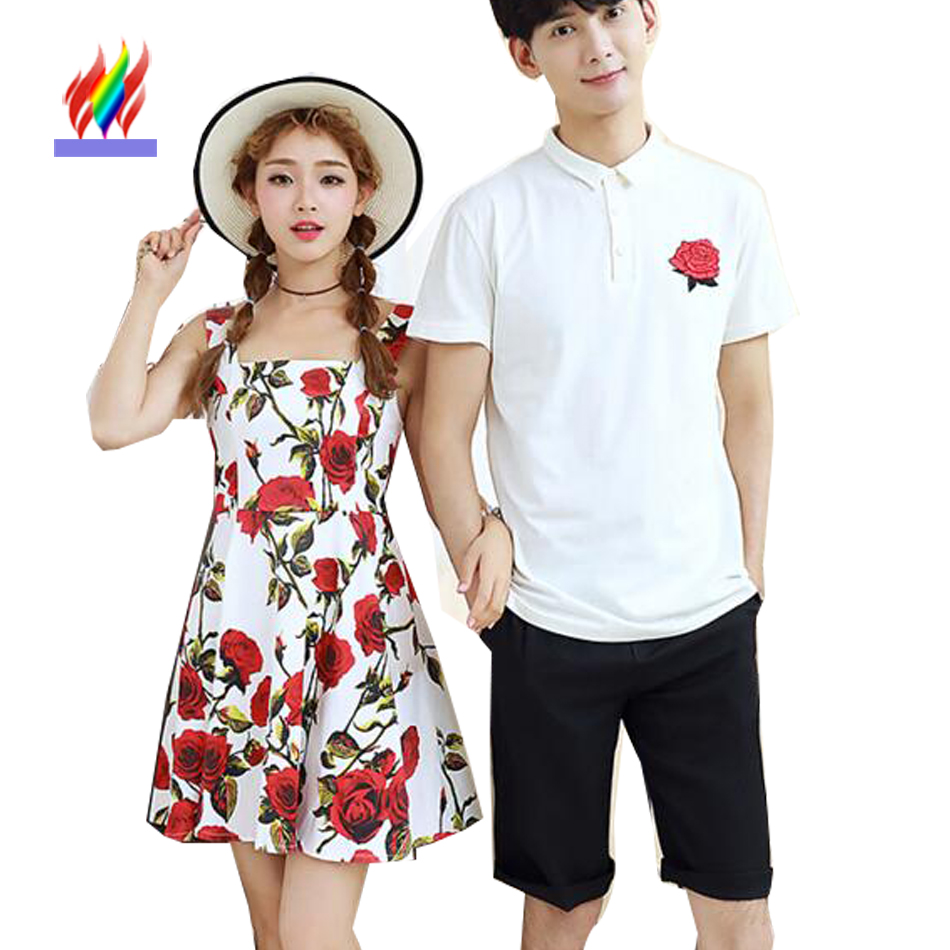 korean matching couple clothes for lovers summer holiday