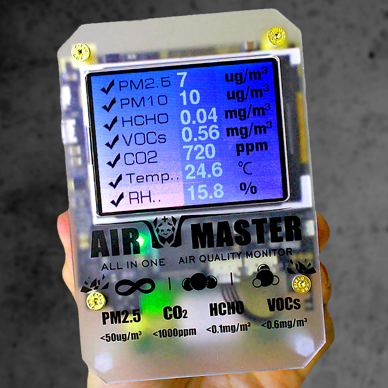 UN Nouveau Lot de AM7 Plus Laser PM2.5 Air Maître 2 D'importation Professionnelle Dart Formaldéhyde Détecteur en Allemagne