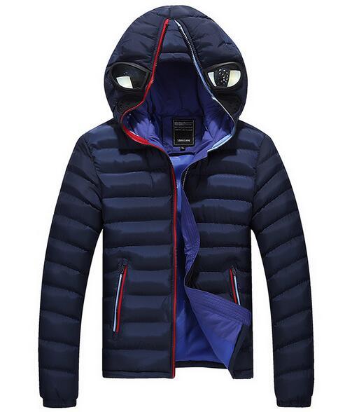 2016 erkekler aşağı ceket artı boyutu M-3XL marka erkekler pamuk kış gözlük ceket erkekler ünlü ince hafif kış aşağı ceket 3 renk