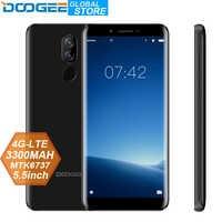 Origina DOOGEE X60L 5.5 ''MTK6737 Quad Core 2 GB RAM 16 GB ROM 4G double caméra 13.0MP Android 7.0 3300 mAh Smartphone avec empreinte digitale
