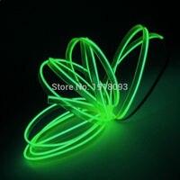2017 10 Couleurs Sélectionner 5 M 2.3mm-jupe À La Mode EL Fil Flexible Led Neon Light Lumineux pour Voiture À L'intérieur décor 5 V Lecteur LED bande