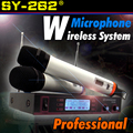 Professional UHF Wireless Microphone System Dual Handheld Mic With Receiver For Karaoke KTV Conference Singing Microfone Sem Fio