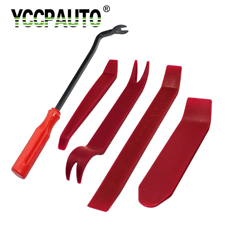 YCCPAUTO Car Repair Tools Panel Dash Removal Nail Puller Radio Audio Panel Door Repairing Clip Trim Pry Plastic 5PCS/Set