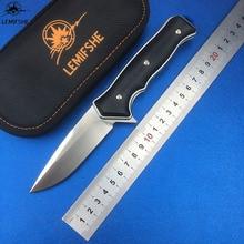 LEMIFSHE 1502 D2 blade G10 + steel handle Flipper folding knife Outdoor camping hunting Survival pocket fruit knives EDC tools цена в Москве и Питере