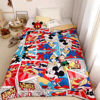 Disney Micky Throw For Home Motorcycle Patten Comfortable Ventilation Throw Blanket Sofa Bedroom Chair Soft Blanket
