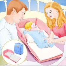 Baby Newborn Infant Folding Travel Crib Bed Foldable Sleeping Portable Nursery Bag Cradle цены