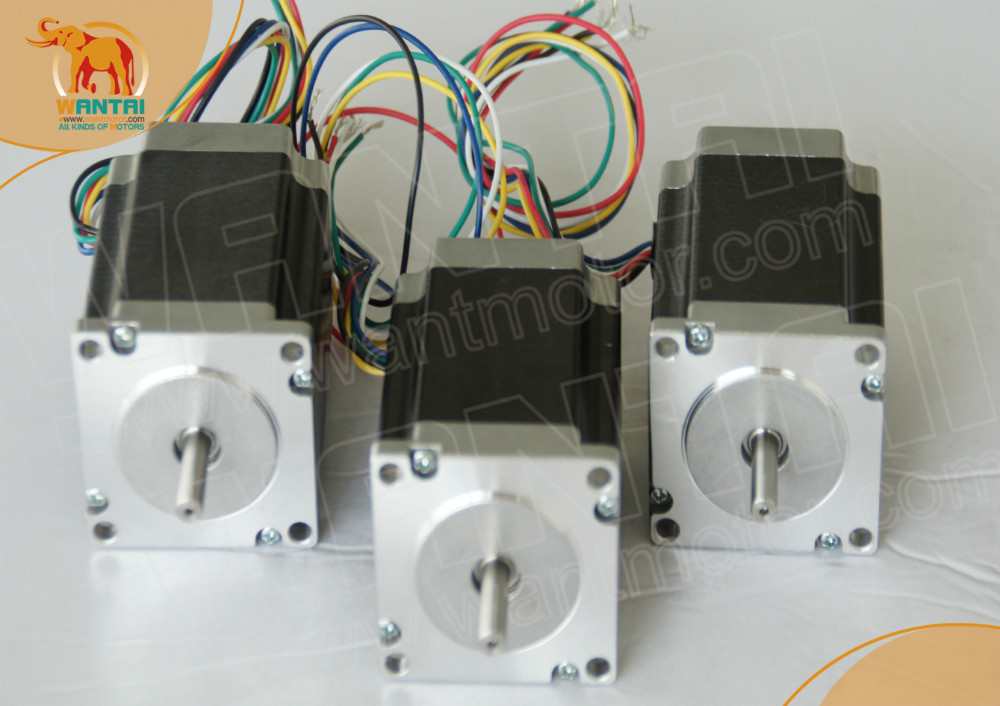 Wantai Manufacturer ! 2 phases WANTAI 3 PCS NEMA23 STEPPER MOTOR 185OZ-IN,2.0A, 57BYGH420, 2 Phase CNC Mill &Cutting high 3 pcs nema 17 stepper motor 70oz in 2 5a cnc cutting