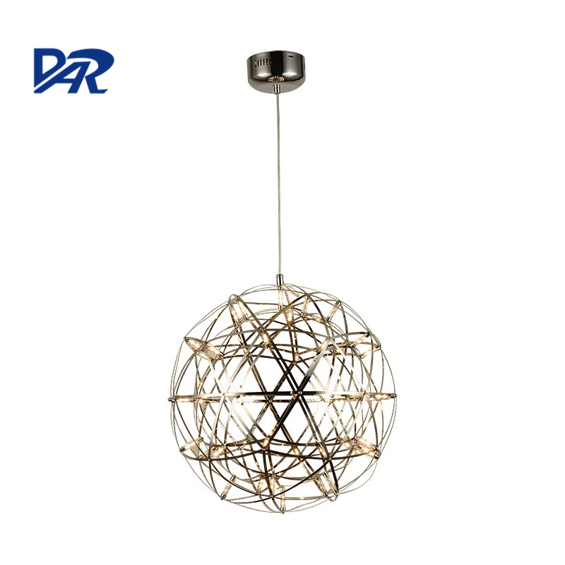 Handmade Spark Ball Pendant Lights Stainless Steel Circle Firework Led Lamp Restaurant Hanglamp Lamparas Colgantes Lustre Abajur aluminum chain tassel pendant lights e14 led silver pendant lamp lamparas colgantes lustre project light pendientes hanglamp new
