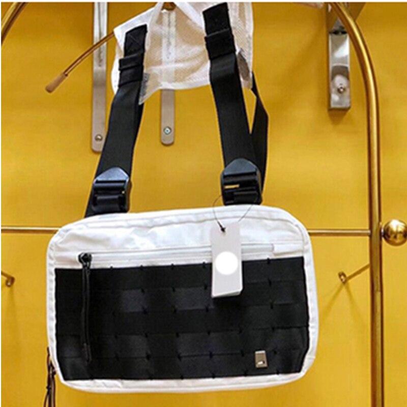 2019 mode nylon poitrine plate-forme sac Hip Hop Streetwear fonctionnel tactique poitrine sac bandoulière sac Kanye West nouveau sac de taille