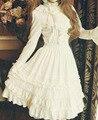 Premium Lolita Gothic Style Skirt Chiffon Lace Ruffles Ballon Knee Length Skirt Ball Gown Skirt Cosplay Costume Mujer La Falda