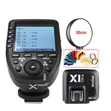GODOX XPro-C E-TTL 2.4G Wireless High Speed Sync X system Trigger + Godox X1R-C Receiver For Canon EOS Cameras
