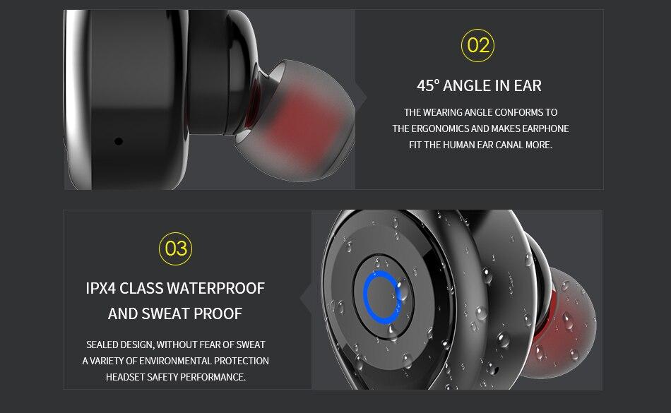 Poster - AWEI T1 TWS Bluetooth Earphone Mini Bluetooth V4.2 Headset