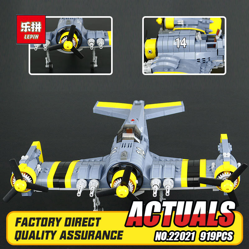 Lepin 22021 919Pcs Technical Series The Beautiful Science Fiction Fighting Aircraft Set Building Blocks Bricks Toys Model Gift black pearl building blocks kaizi ky87010 pirates of the caribbean ship self locking bricks assembling toys 1184pcs set gift