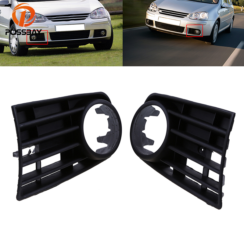 POSSBAY High Quality Auto Car Front Bumper Lower Side Fog Light Grille Grills Fit For VW Golf MK5 2004/2005-2009 Car-styling
