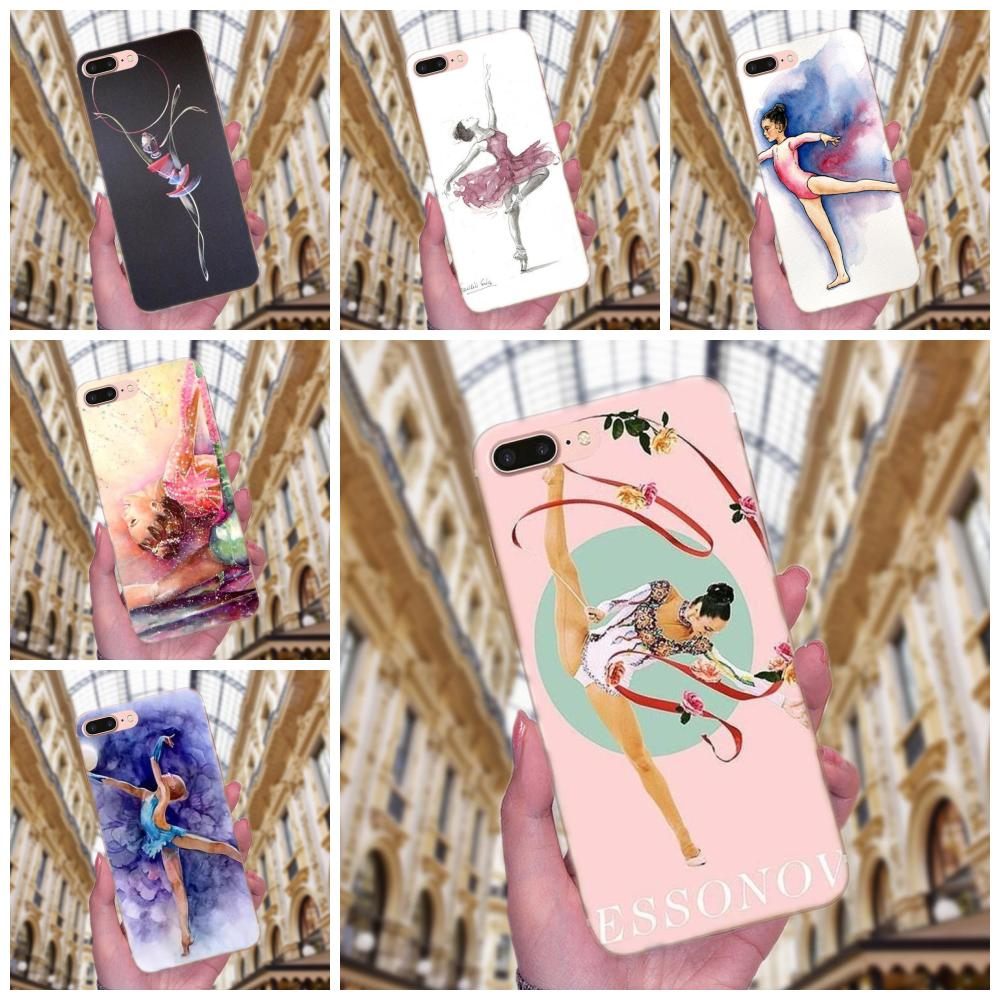 Soft Case Painting Girl Sport <font><b>Gymnastic</b></font> For Samsung Galaxy Note 5 8 9 S3 S4 S5 S6 S7 S8 S9 S10 mini Edge Plus Lite image