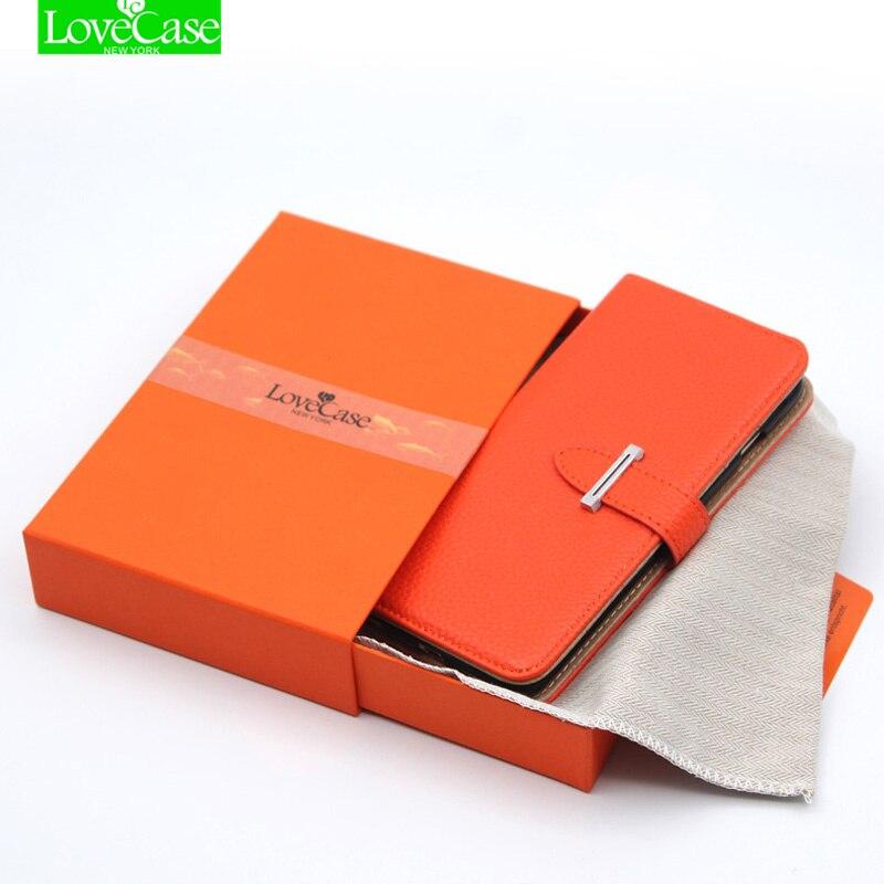 bilder für H metallschnalle luxury phone ledertasche für iphone 7 6 6 s Plus flip brieftasche stil handytasche für iphone 5 5 S SE 6 sPlus 7 Plus fall