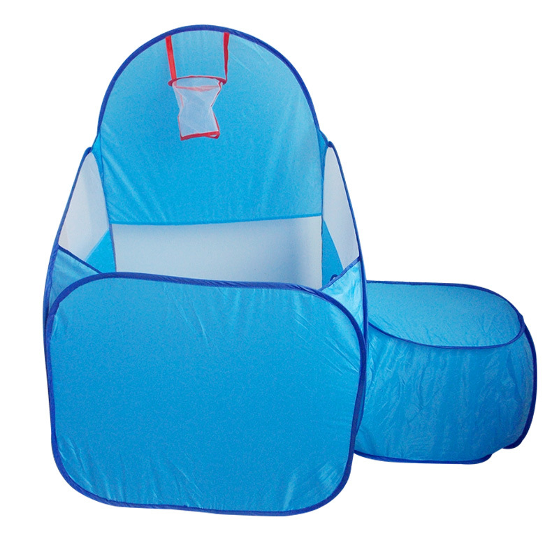 YARD Baby Portable Foldable Outdoor Indoor Toys Tent PlayHouse with Baby Crawl Tunnel and Basketball Hoop